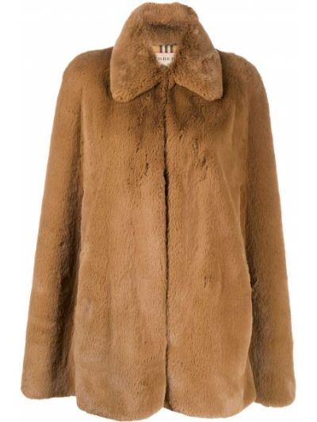 Хлопковое пальто классическое оверсайз с воротником Burberry