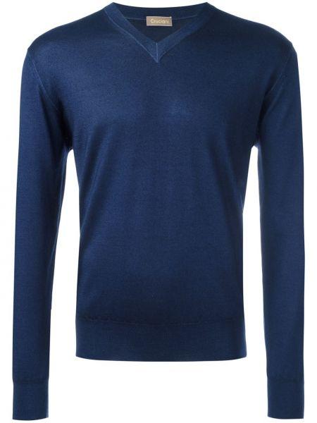 Niebieska z kaszmiru bluza Cruciani