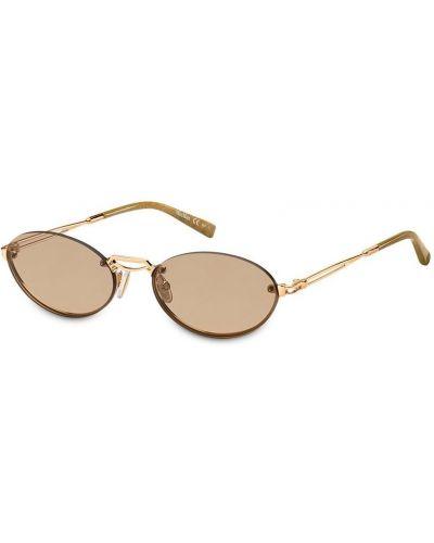 Солнцезащитные очки металлические - желтые Max Mara