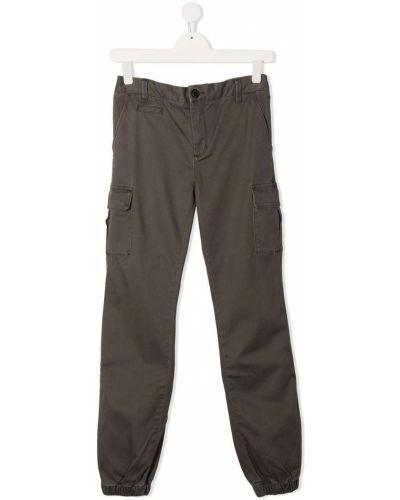Хлопковые коричневые брюки карго с карманами Sun 68