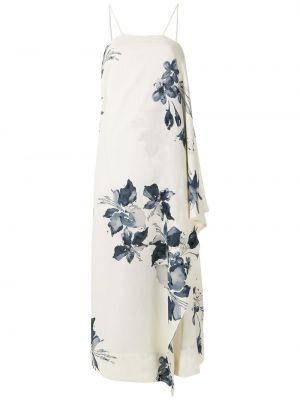 Белое платье миди с запахом с воротником Osklen