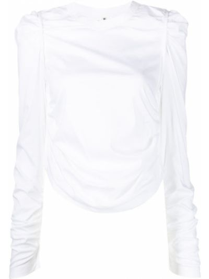 Топ с длинными рукавами - белый Comme Des Garçons Noir Kei Ninomiya
