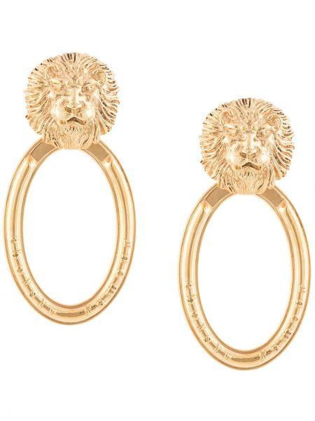 Золотистые желтые золотые серьги свободного кроя позолоченные Natia X Lako