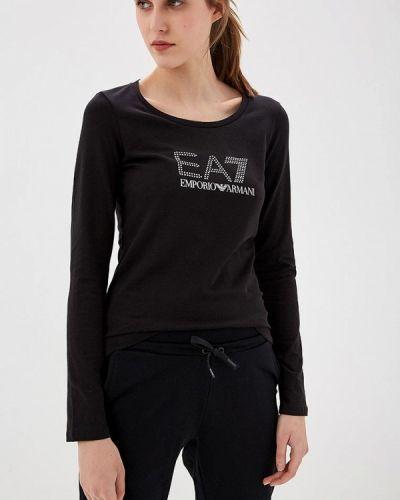Черный лонгслив Ea7