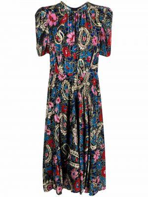 Шелковое платье миди - синее Isabel Marant