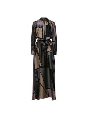 Шелковое платье - зеленое Kiton