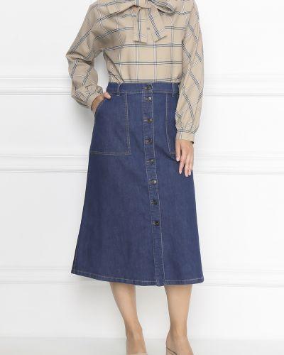 Юбка миди джинсовая с карманами Marina Rinaldi