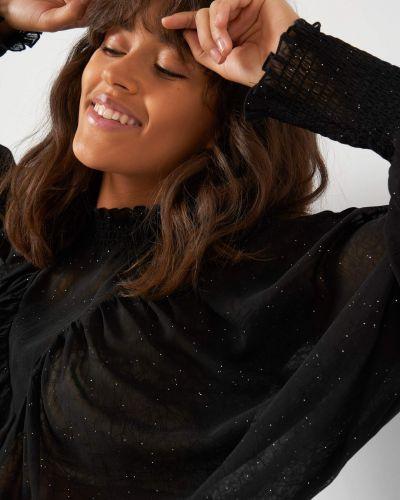 Czarna bluzka z cekinami nietoperze Orsay