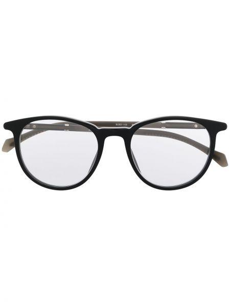 Czarna oprawka do okularów Boss