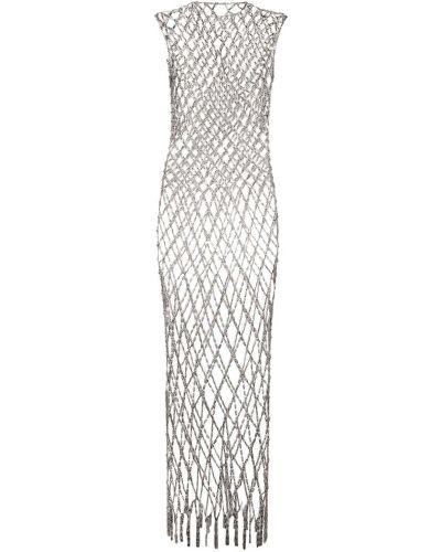 Платье макси длинное - серебряное Balenciaga