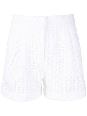 Хлопковые белые шорты с потайной застежкой Michael Michael Kors