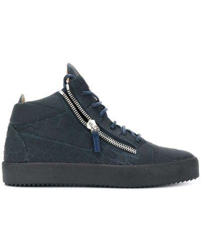 Кожаные кроссовки на молнии резиновые Giuseppe Zanotti Design