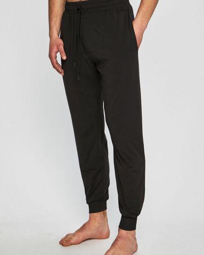 Piżama długo czarny Calvin Klein Underwear