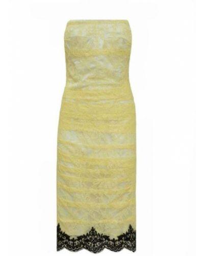 Żółta sukienka koronkowa Anna Molinari