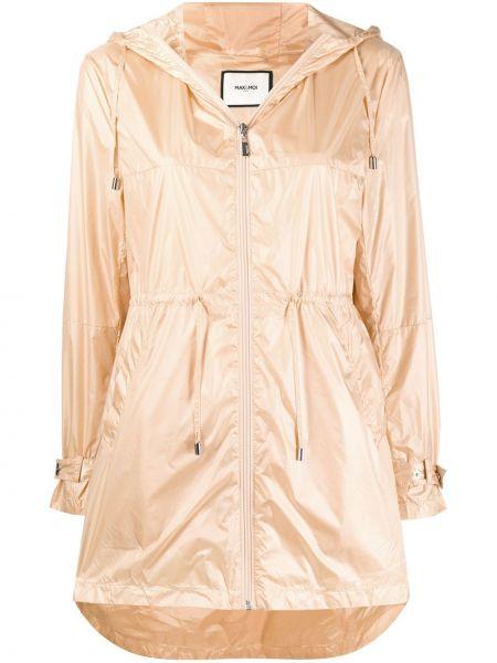 Короткая куртка с капюшоном на молнии мятная Max & Moi