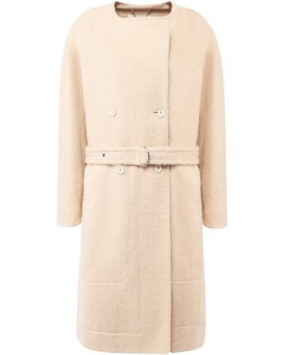 Пальто бежевое шерстяное Chloé