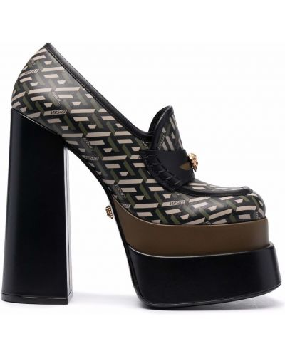 Туфли на каблуке - черные Versace