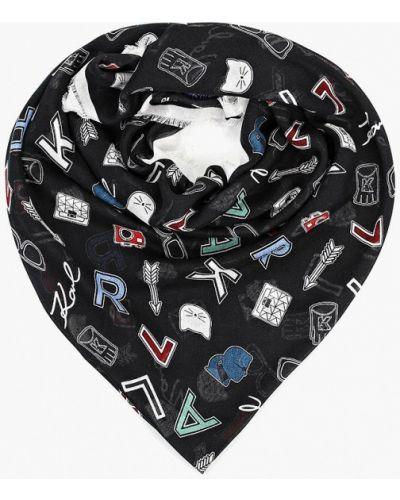 Платок черный Karl Lagerfeld