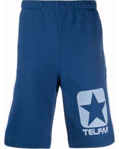 Niebieskie szorty bawełniane Telfar