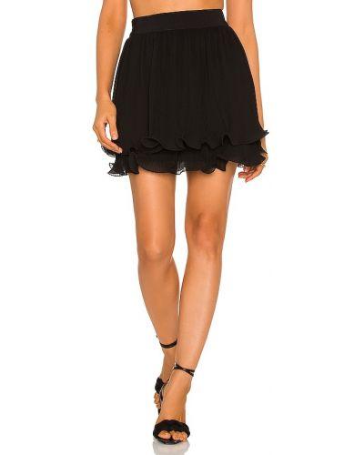 Czarna spódnica z szyfonu Milly