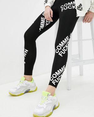Черные пуховые брюки Comme Des Fuckdown
