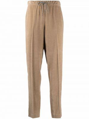 Коричневые шерстяные брюки Fabiana Filippi