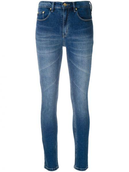 Синие джинсы-скинни с карманами с пайетками на пуговицах Amapô