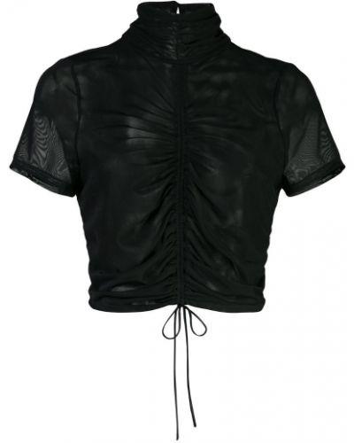 Блузка с рюшами черная Cinq A Sept