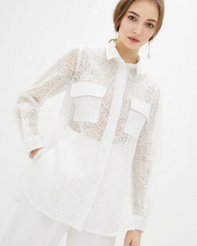 С рукавами белая блузка Zubrytskaya