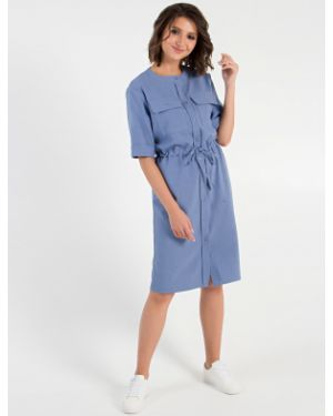 Платье мини на пуговицах сафари Mariko