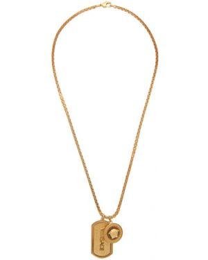 Ожерелье золотой Versace