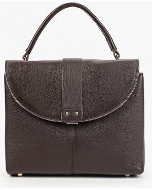 Кожаная сумка через плечо коричневый Mallanee