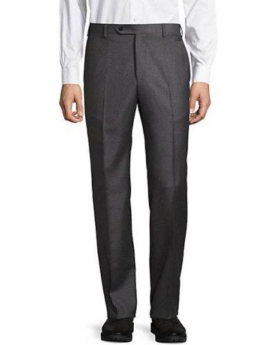 Шерстяные черные классические брюки с карманами Zanella