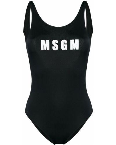 Слитный купальник с принтом с вырезом Msgm