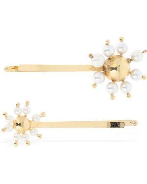 Złote klipsy perły Rosantica