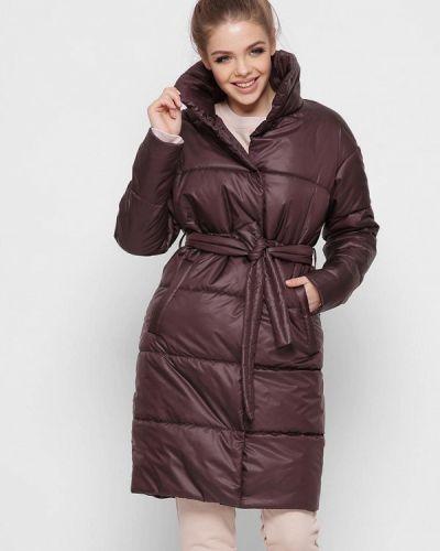 Коричневая утепленная куртка Carica&x-woyz