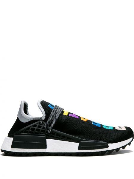 Czarne sneakersy sznurowane koronkowe Adidas By Pharrell Williams