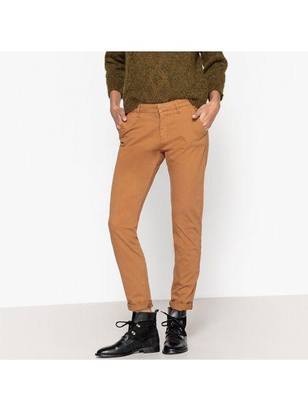 Базовые хлопковые желтые брюки с карманами Reiko
