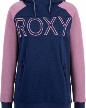 Джемпер синий коричневый Roxy