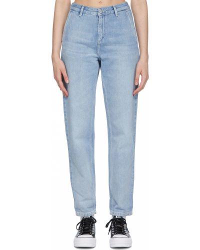 Mom jeans srebrne - białe Carhartt Work In Progress