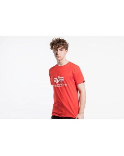 T-shirt bawełniana - czerwona Alpha Industries