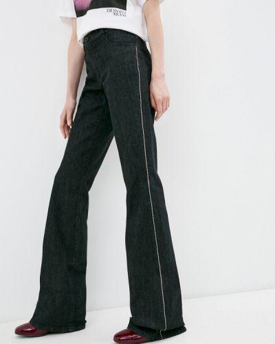 Расклешенные черные широкие джинсы Trussardi