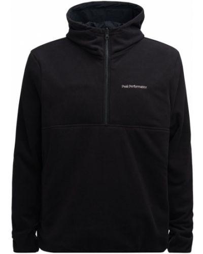Czarna bluza z długimi rękawami Peak Performance