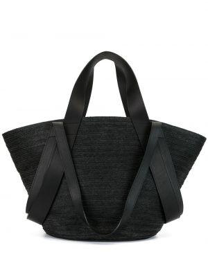 Кожаная плетеная черная сумка-тоут на молнии Discord Yohji Yamamoto