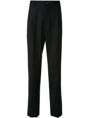 Czarne spodnie z paskiem Kent & Curwen