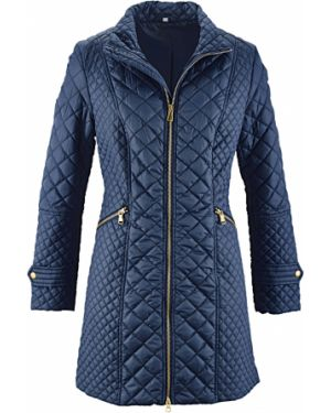 Длинная куртка стеганая на молнии Bonprix