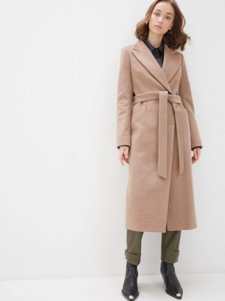 Коричневое пальто с капюшоном Avalon