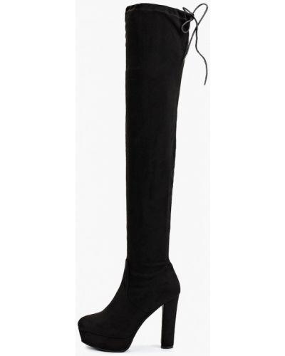 Черные демисезонные сапоги Sweet Shoes