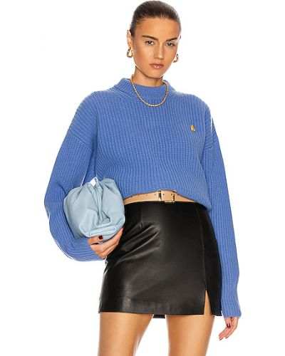 Синий шерстяной свитер винтажный The Attico