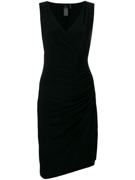 Платье миди с V-образным вырезом с драпировкой Norma Kamali